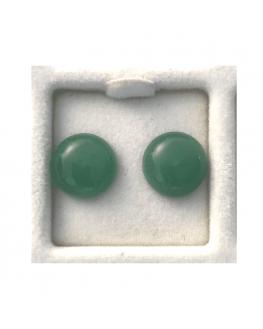Boucle d'oreilles en aventurine verte