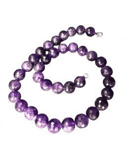 Collier Améthyste - Perles facettées de 12mm