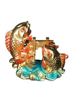 Les deux poissons - Statuette Feng shui -