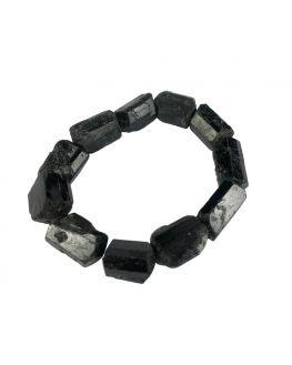 Tourmaline noire - Bracelet en pierres brutes