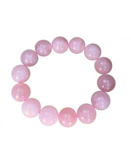 Bracelet en quartz rose de 14 mm