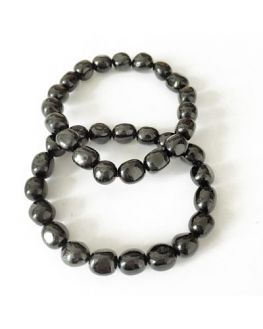 Tourmaline noire Bracelet pierres roulées