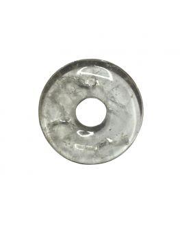 Pendentif donut en cristal de roche