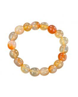 Cornaline - Bracelet pierres roulées