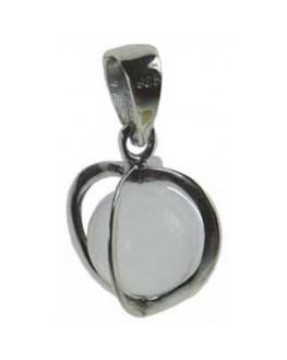 Médaille pentacle - coeur - Cristal sacré