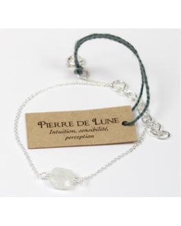 Bracelet - Pierre de Lune - Chaîne Argent