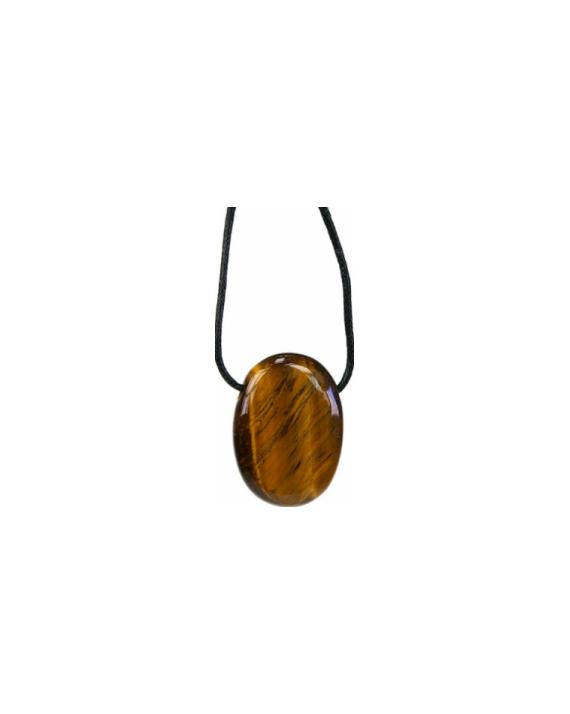 Pendentif pierre ovale Oeil de tigre