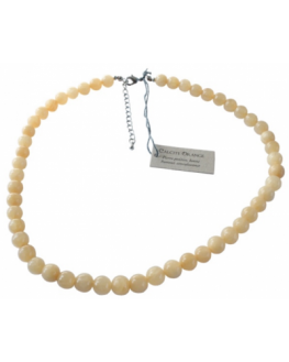 Collier - Calcite orange - Perles