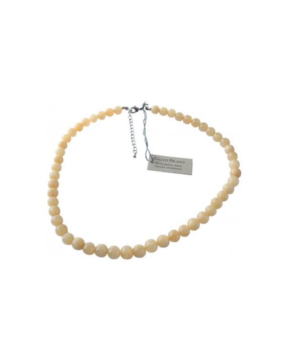 Collier - Calcite orange - Perles