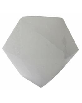 Lampe en cristal de sel blanc - LED diamant