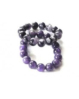 Bracelet Améthyste perles de 12mm