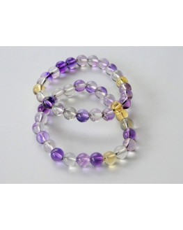 Bracelet Amétrine perles de 10mm