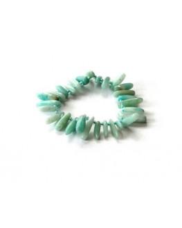 Bracelet plaquettes d'Amazonite