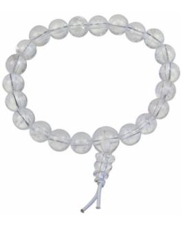 Bracelet mala tibétain en Cristal de roche