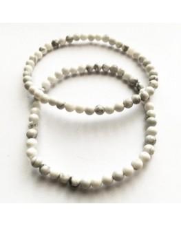 Bracelet Howlite Perles 4mm