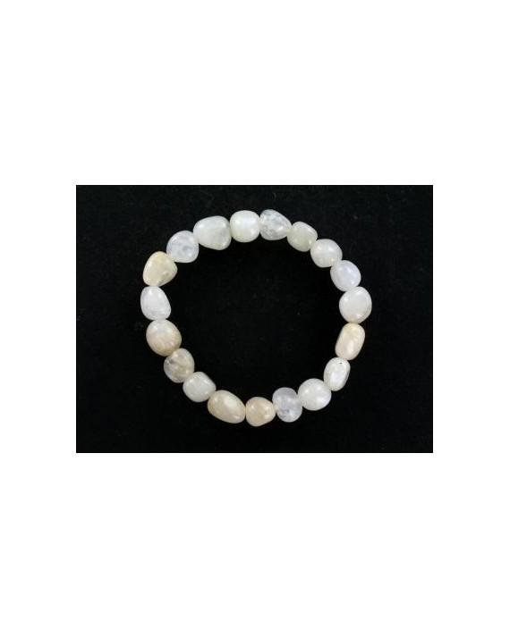 Bracelet pierre de lune pierres roulées