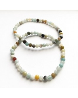 Bracelet en perles d'Amazonite 4mm