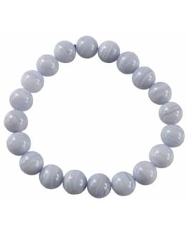 Bracelet Calcédoine Perles 8mm