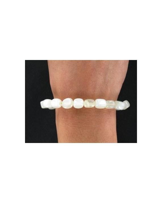 Bracelet Pierres roulées Jade élastique