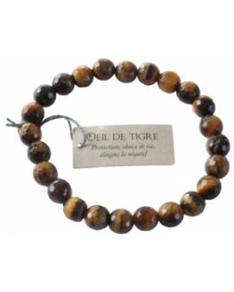 Bracelet Perles facettées en Oeil de tigre