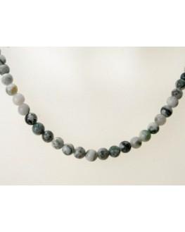 Collier en perles d'agate Arbre 6mm