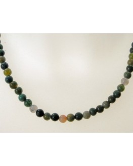 Collier en perles d'agate indienne 6mm