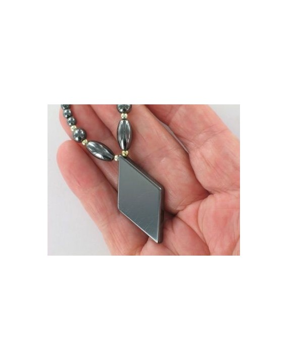 Collier - Hématite - Triangle