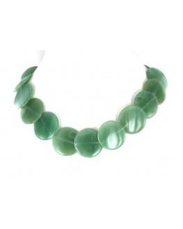Collier - Aventurine verte - Perles disques