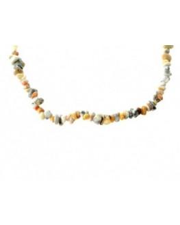 Collier en perles baroques d'agate crazy