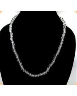 Collier - Cristal de roche - Perles facettées