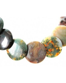 Collier Agate Indienne Perles disques