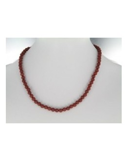 Collier Jaspe rouge 6mm