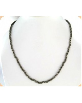 Collier en  Pyrite Perles de 4mm