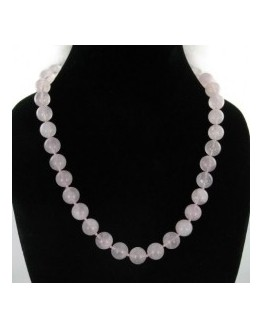 Collier - Quartz rose - Perles