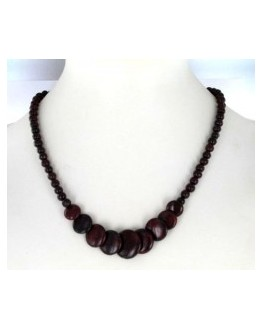 Collier Obsidienne mahagonite ronds 45cm