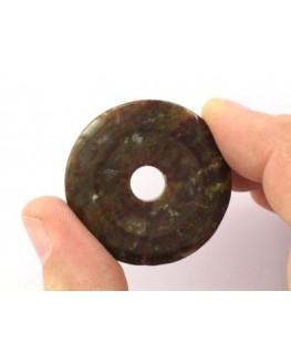 Pendentif - Jaspe océan - Donut