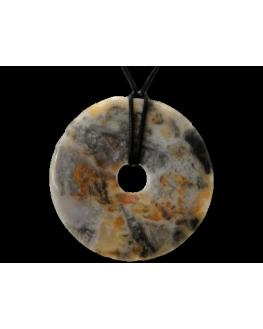 Pendentif donut Agate Crazy 80mm