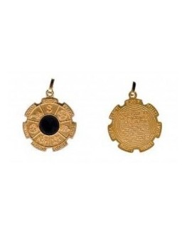 Médaille pentacle - Médaille exo 7 dorée