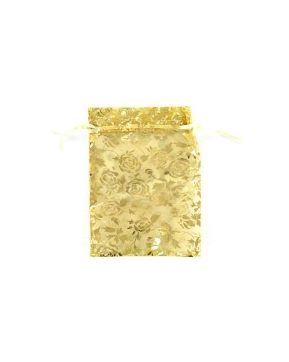Pochette dorée 17cm sur 13cm