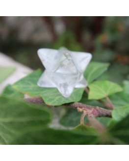 Pendentif - Cristal de roche - Merkaba