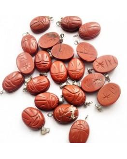 Pendentif - Jaspe rouge - Scarabée égyptien