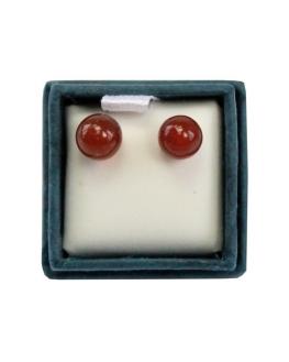 Boucles d'oreille - Puces d'oreilles - Cornaline