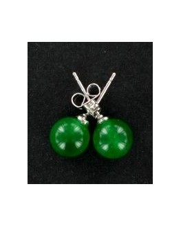 Boucles d'oreille - Puces d'oreilles - Jade