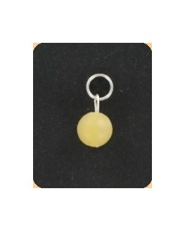 Pendentif - Jade jaune - Perle