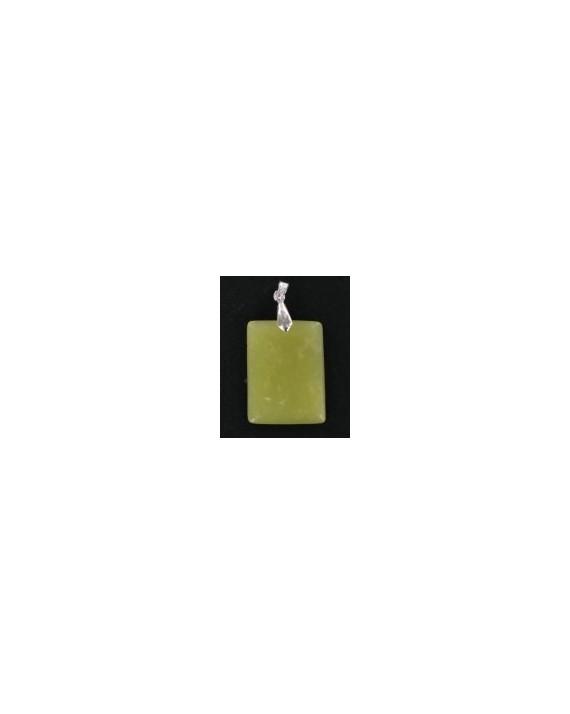 Pendentif - Jade jaune - Pierre plate