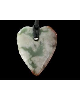 Pendentif - Smithsonite verte - Coeur