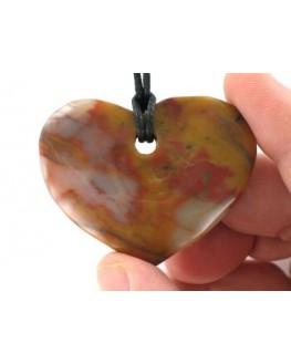 Pendentif pierre Agate cœur