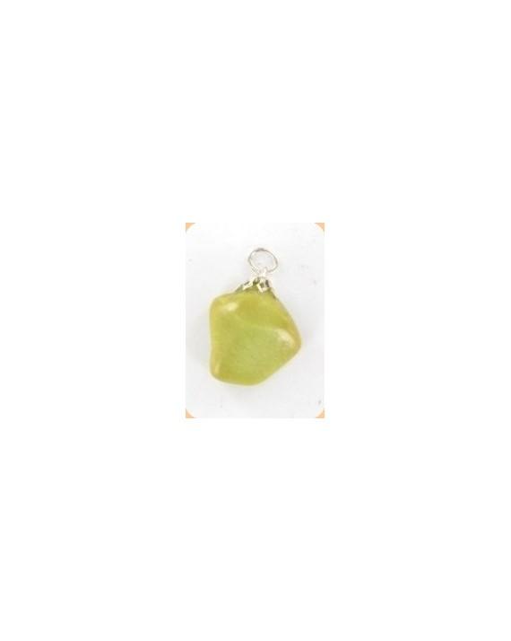 Pendentif - Opale verte - Pierre roulée
