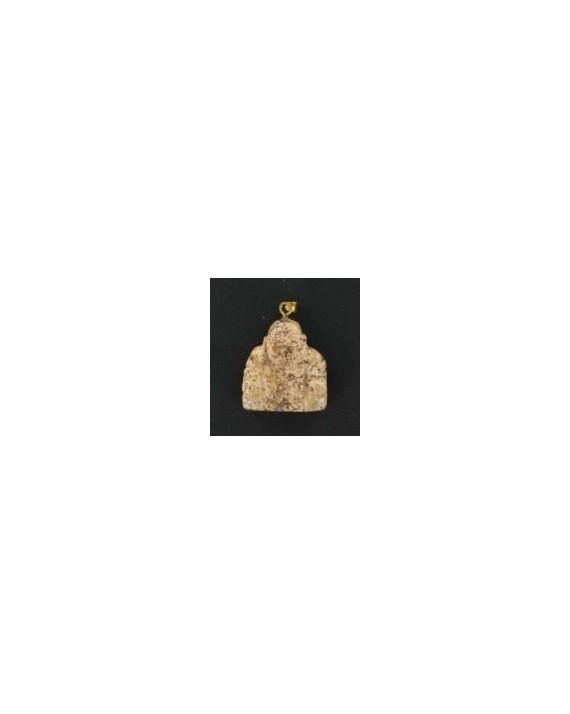 Pendentif - Jaspe paysage - Bouddha